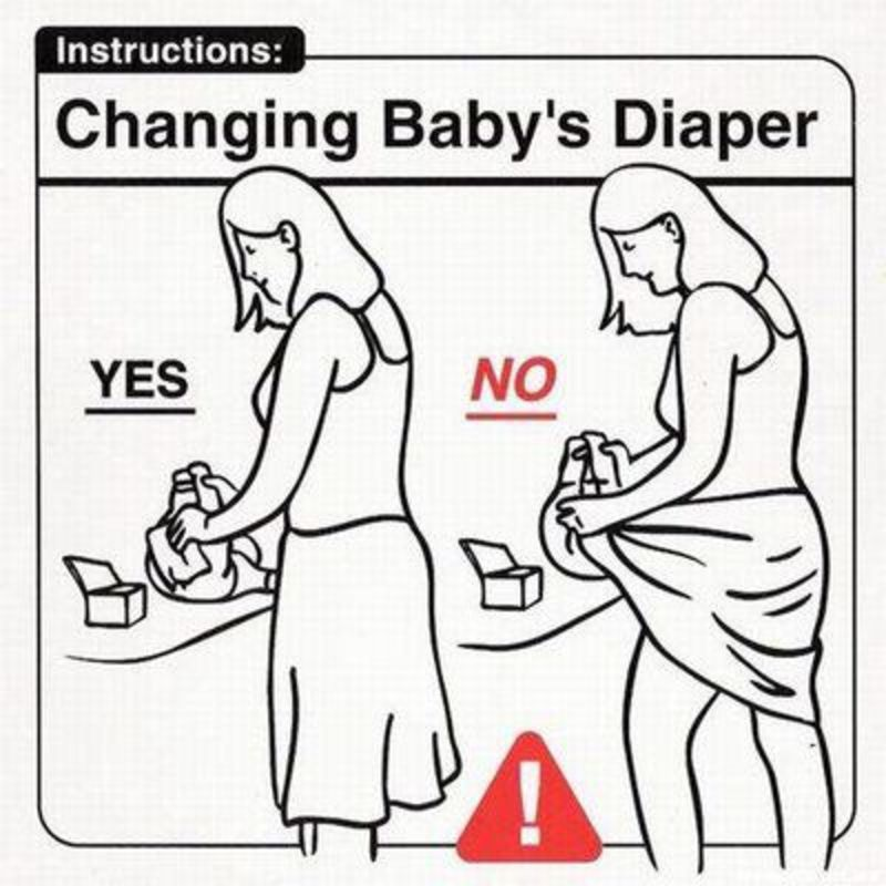 Changing Babys Diaper Funny Instruction