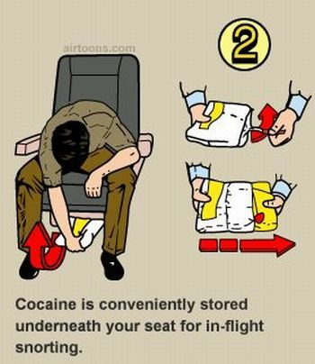 Cocaine Safety Funny Instruction Picture