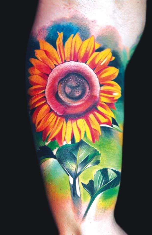 colorful star tattoo design on half sleeve. Black Bedroom Furniture Sets. Home Design Ideas