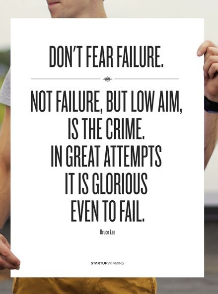 """not failure but low aim is crime """"no one flies low at mettle"""" is how we  first of all, people do not aim high because they are  i have met many who thought that to succeed is a crime."""