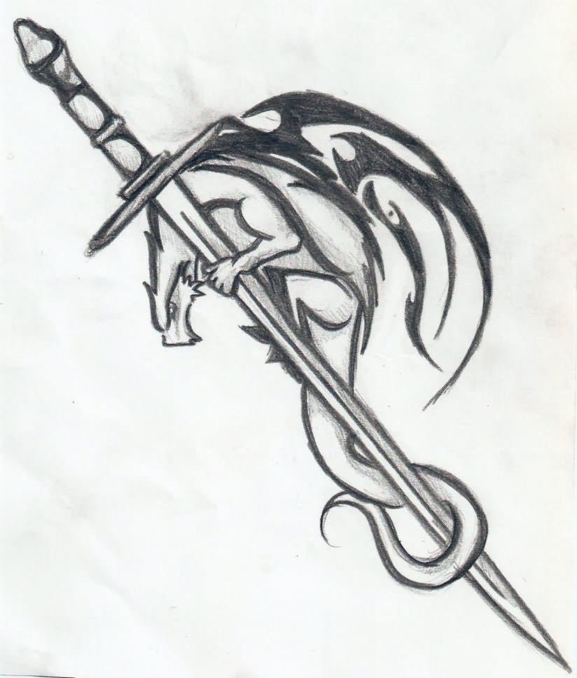 Sword Through Heart Tattoo Designs