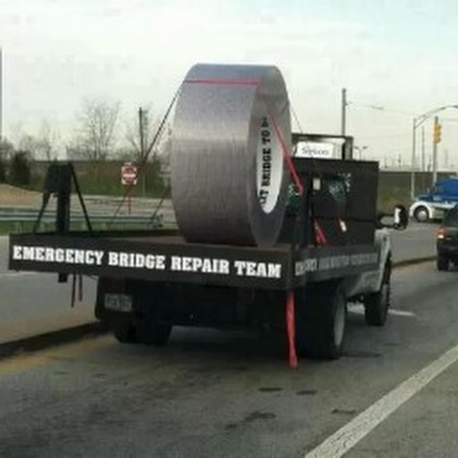 Emergency Bridge Repair Team Funny Duct Tape