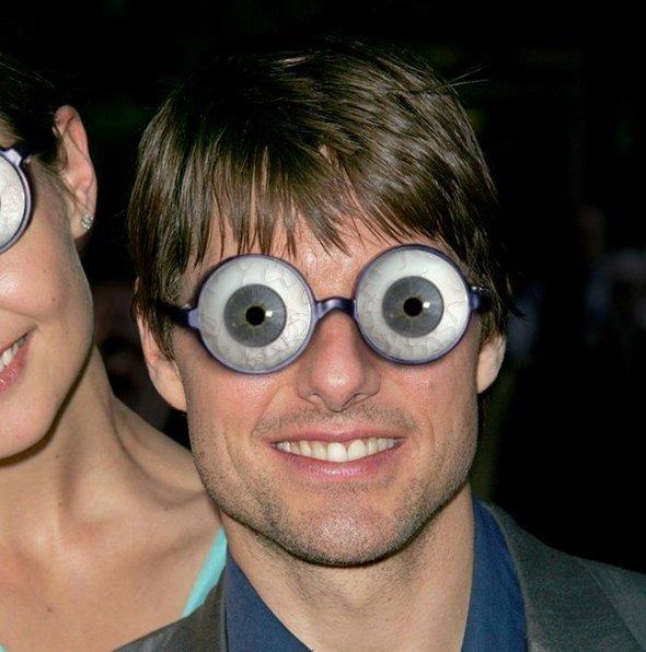 Eyeball Glasses Funny Image