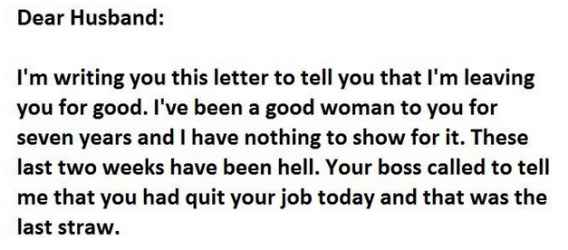 19 very funny letter pictures and photos funny divorce letter spiritdancerdesigns Images
