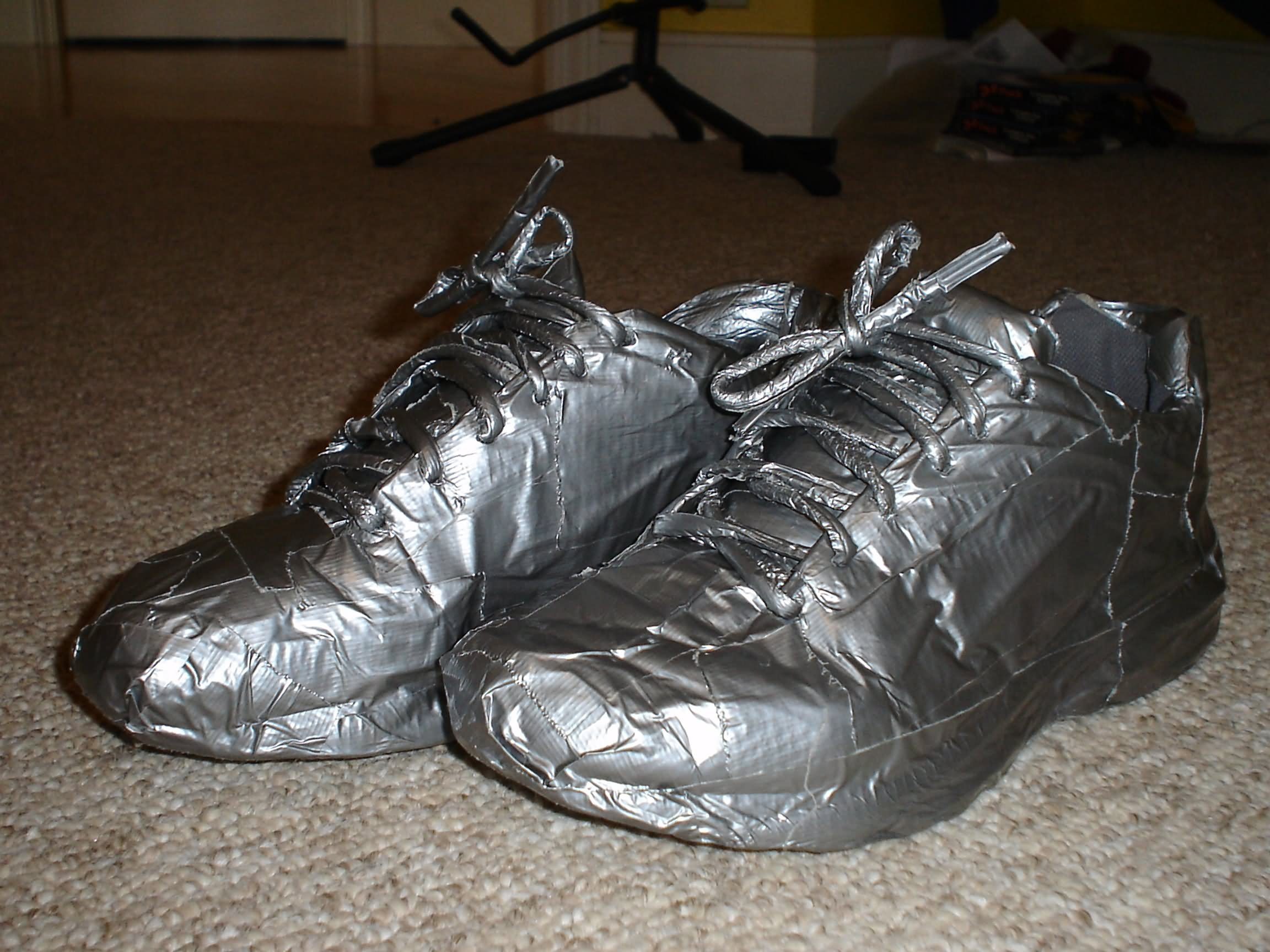 Funny Duct Tape Shoes Picture