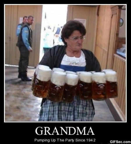 Grandma With Beer Mugs Funny Party Poster 32 funny party images and photos,Funny Grandma Meme