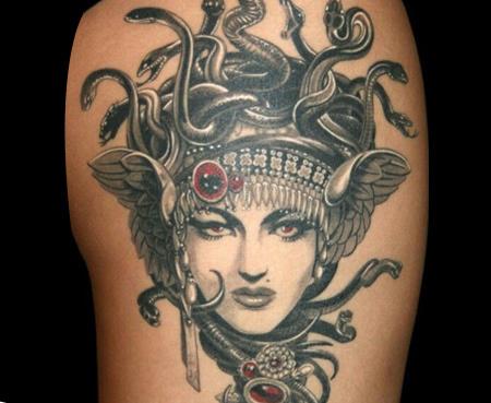 47 Awesome Medusa Face Tattoos