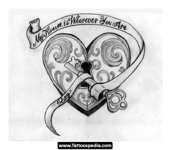 25 Heart Locket Tattoo Designs Ideas: 7+ Lock And Key Tattoo Designs And Ideas