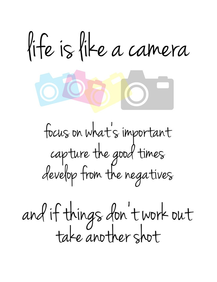 Quotes About Whats Important In Life Magnificent Life Is Like A Camerajust Focus On What's Important Capture The