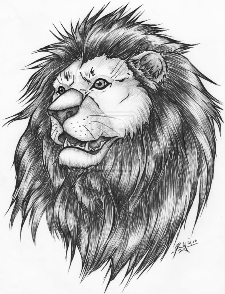 82 famous lion tattoo design sketches. Black Bedroom Furniture Sets. Home Design Ideas