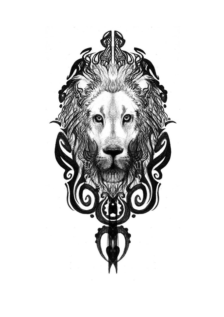 Molto Maori Lion Tattoo Sketch Pictures to Pin on Pinterest - TattoosKid IP85