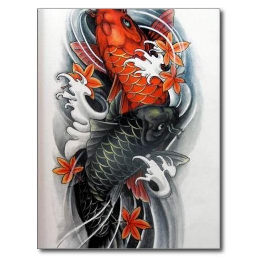 24 incredible koi tattoos ideas for Orange and black koi
