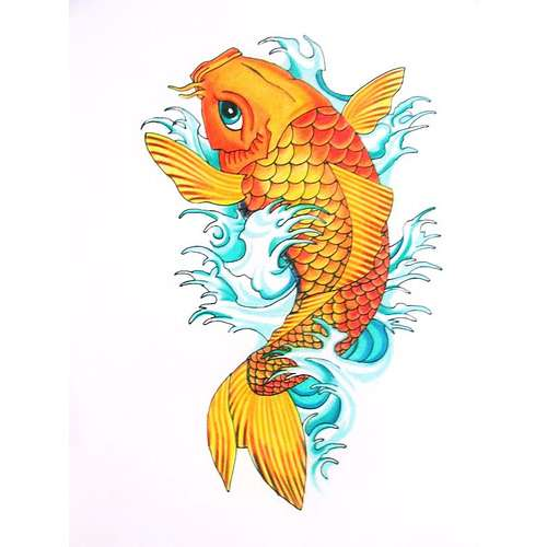 18 wonderful koi tattoo designs and ideas for Orange koi carp