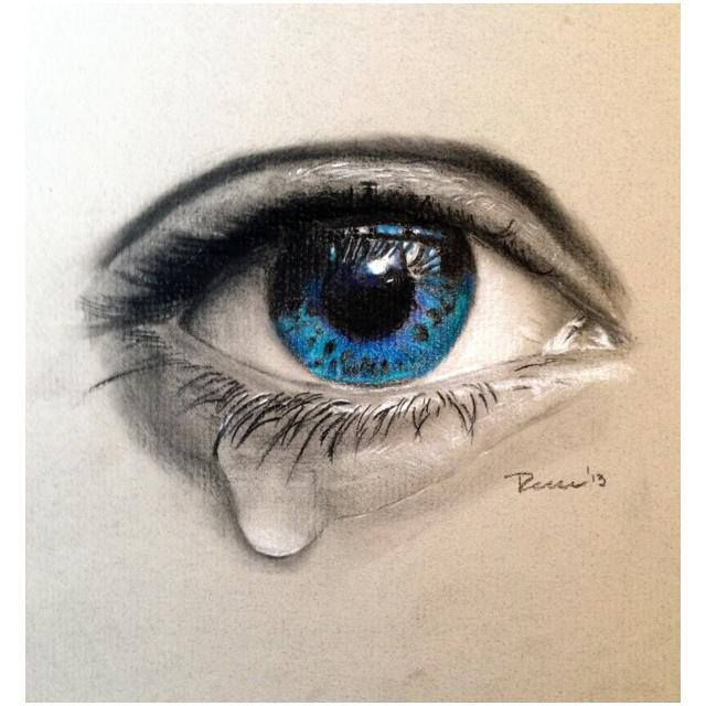 Realistic crying eye tattoo design by rockabillyreese for Eye tattoo images