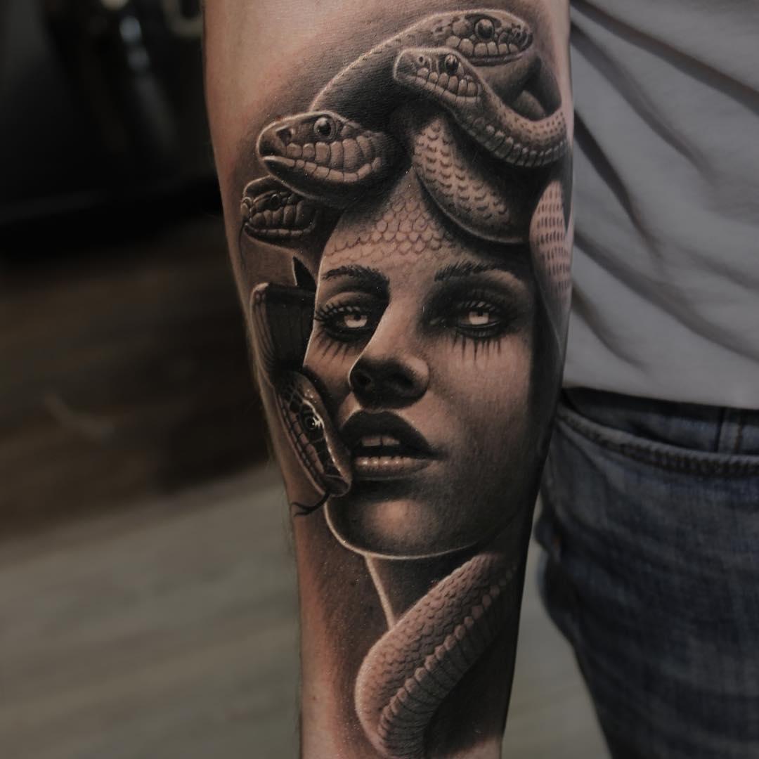 Face Sleeve Tattoo: 47+ Awesome Medusa Face Tattoos