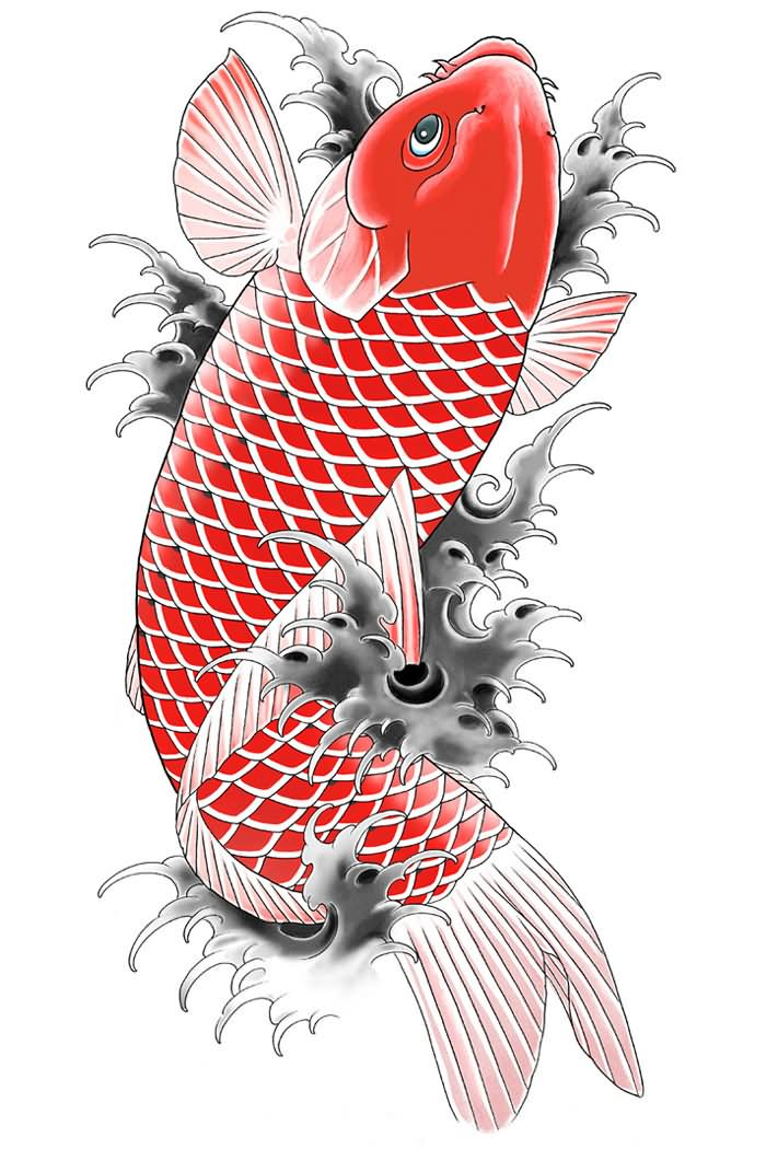 18 wonderful koi tattoo designs and ideas for Koi fish games