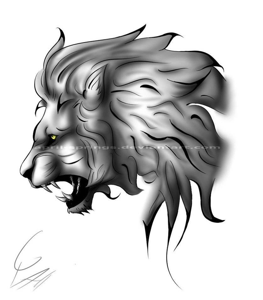 82 Famous Lion Tattoo Design Sketches Draw the outline of the roaring lion's face using the initial shapes as guides. 82 famous lion tattoo design sketches