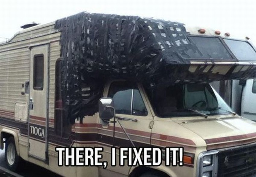 15 very funny duct tape pictures and photos. Black Bedroom Furniture Sets. Home Design Ideas