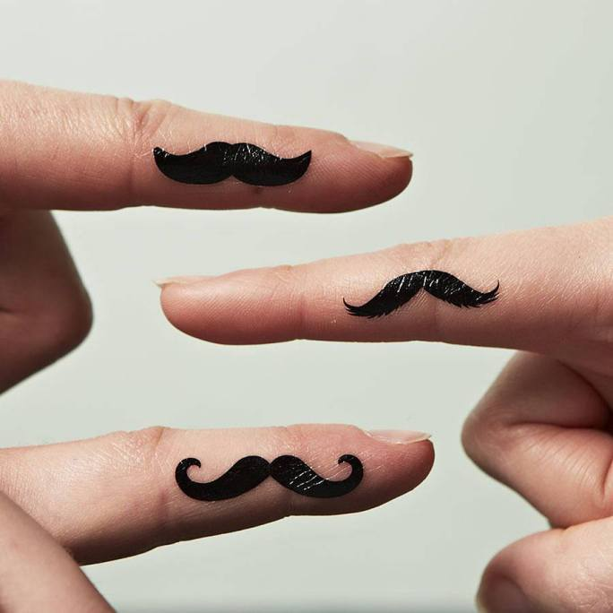 25 unique mustache tattoos