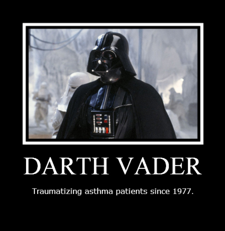 Traumatizing Asthma Patients Since 1977 Funny Darth Vader Poster