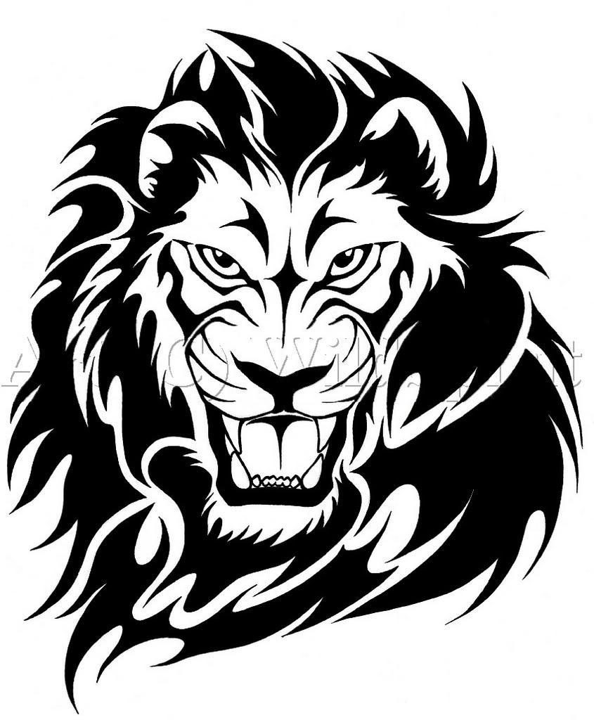 Bike stickers design joker - Lion Tattoo Stencil Designs 82 Famous Lion Tattoo Design Sketches
