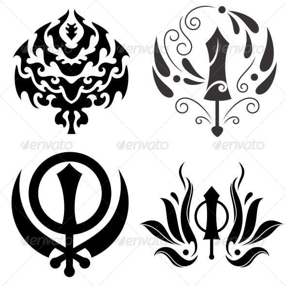 6 awesome sikhism tattoo designs. Black Bedroom Furniture Sets. Home Design Ideas