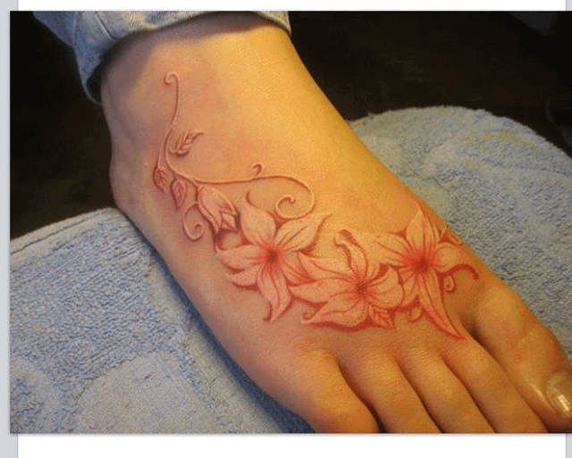 48 incredible white ink tattoos white ink flowers tattoo on right foot mightylinksfo