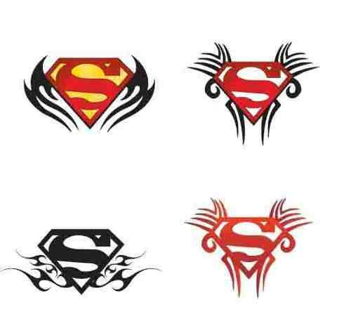 12 awesome superman tattoo designs and ideas. Black Bedroom Furniture Sets. Home Design Ideas