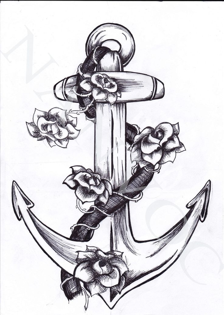 28 Anchor Tattoos With Flowers