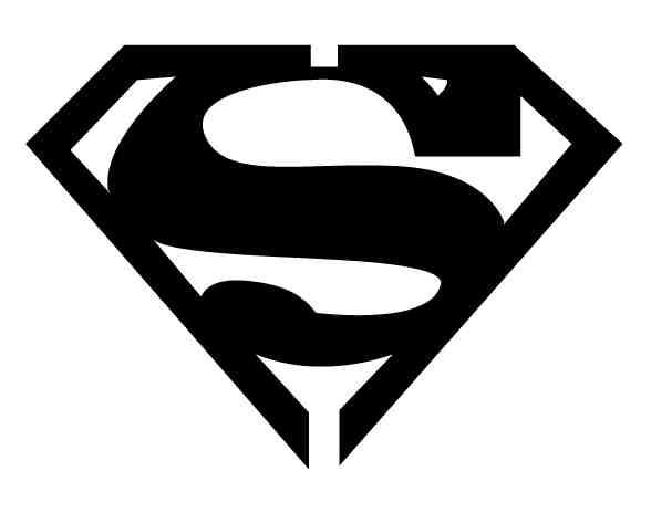 Superman emblem black and white dress