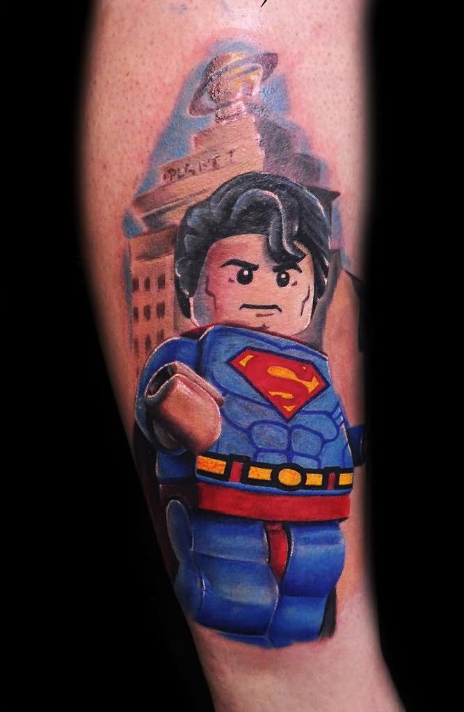 100 wonderful superman tattoos for Cartoon baby tattoos