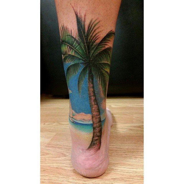 90 fantastic achilles tattoos for Beach scene tattoos
