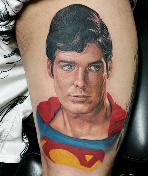81f3e0c04 Colorful Superman Tattoo Design For Half Sleeve