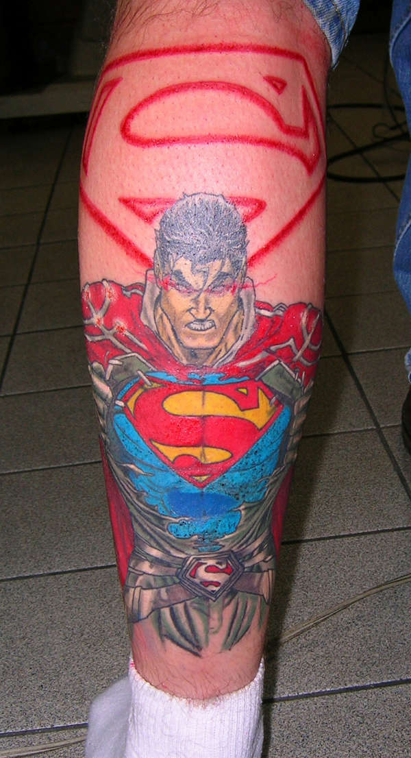 superman tattoos. Black Bedroom Furniture Sets. Home Design Ideas