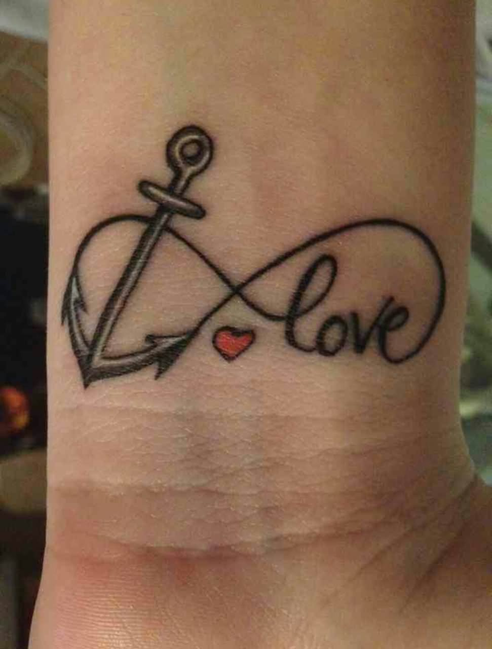25 best anchor infinity tattoos cute infinity love anchor tattoo on wrist buycottarizona Images