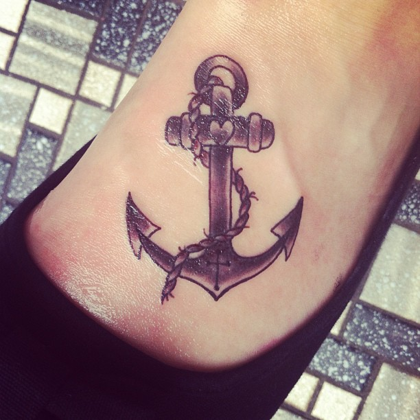 39 Anchor Tattoos On Foot