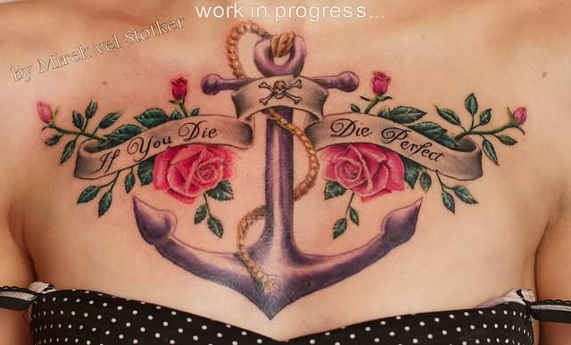 28 anchor tattoos with flowers for The girl with the lower back tattoo review