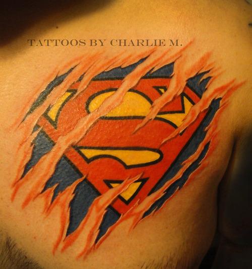 Superman symbol tattoo ideas