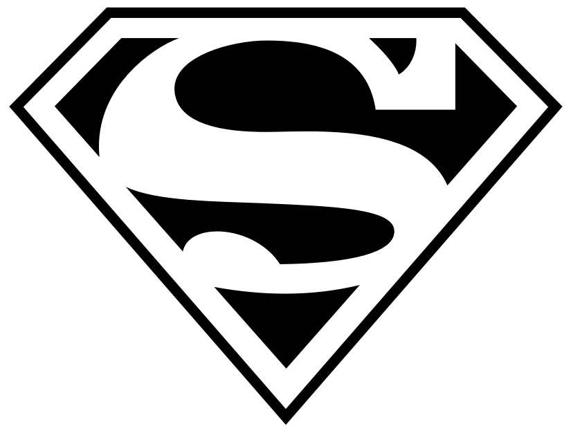 simple black superman logo tattoo stencil by ste rh askideas com large superman logo stencil superman symbol stencil