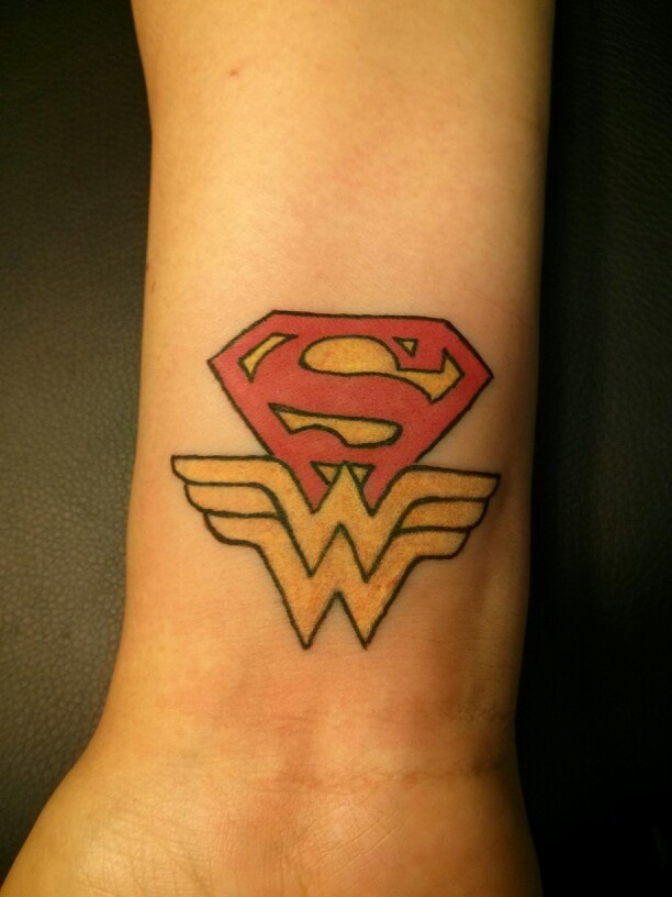 Wonder Woman Wrist Tattoo Designs 100+ wonderful superman tattoos Wonder Woman Wrist Tattoo Designs