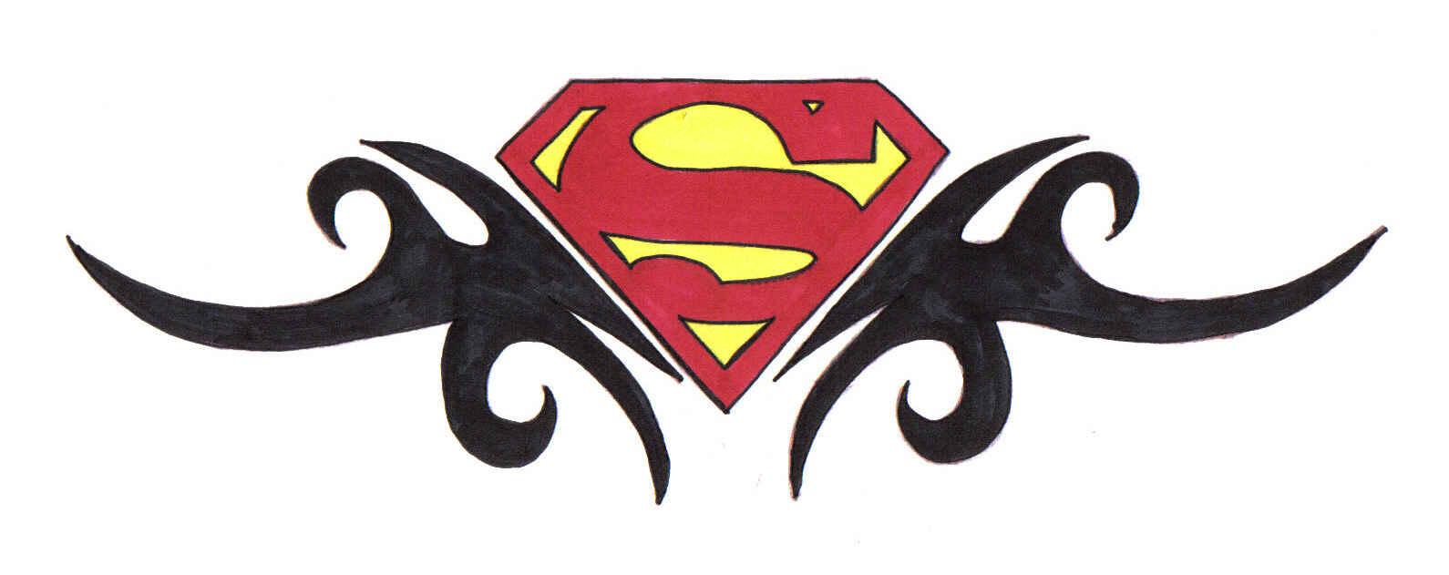 colorful wonder women and superman logo tattoo on finger. Black Bedroom Furniture Sets. Home Design Ideas