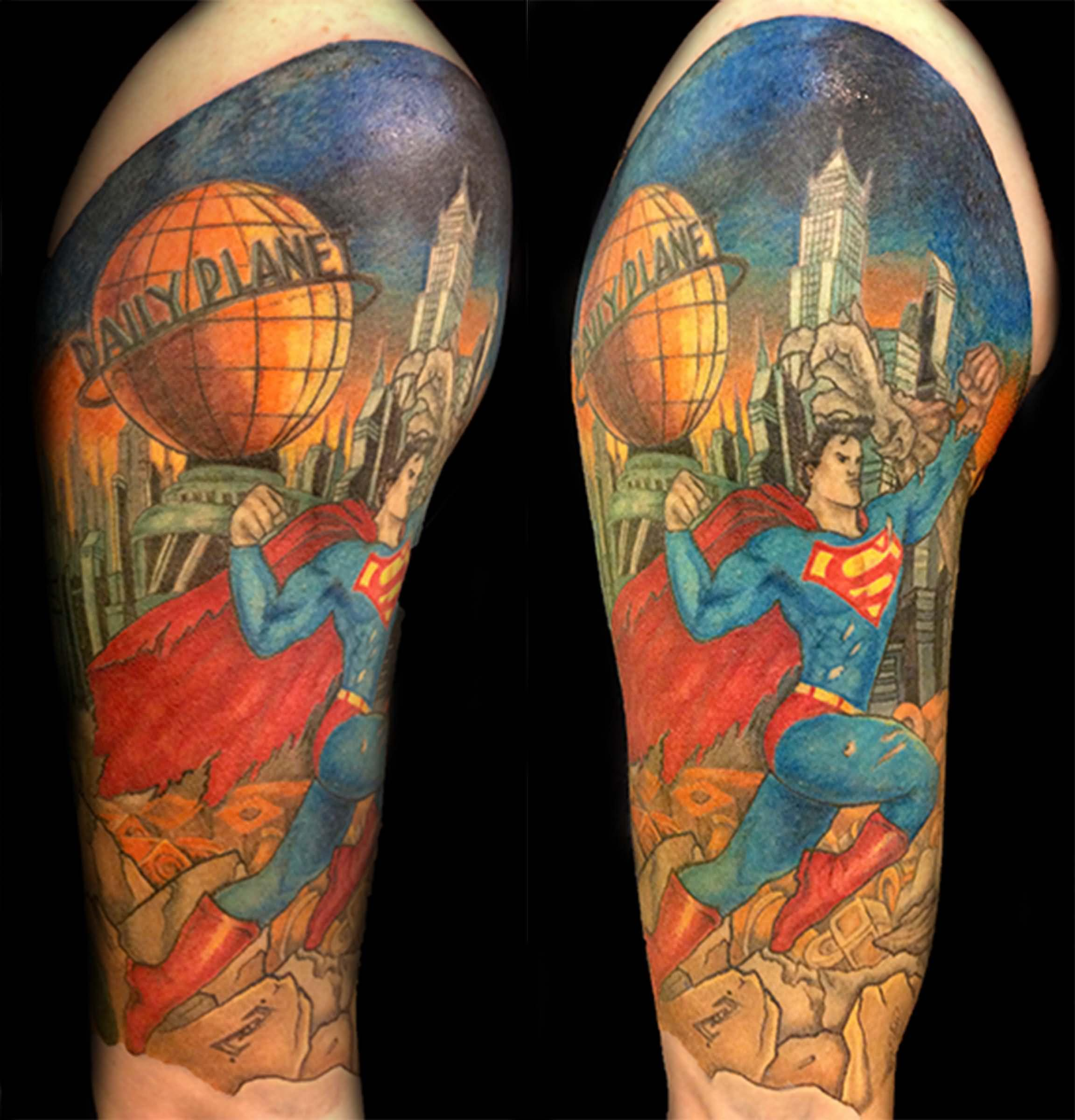 100 wonderful superman tattoos. Black Bedroom Furniture Sets. Home Design Ideas