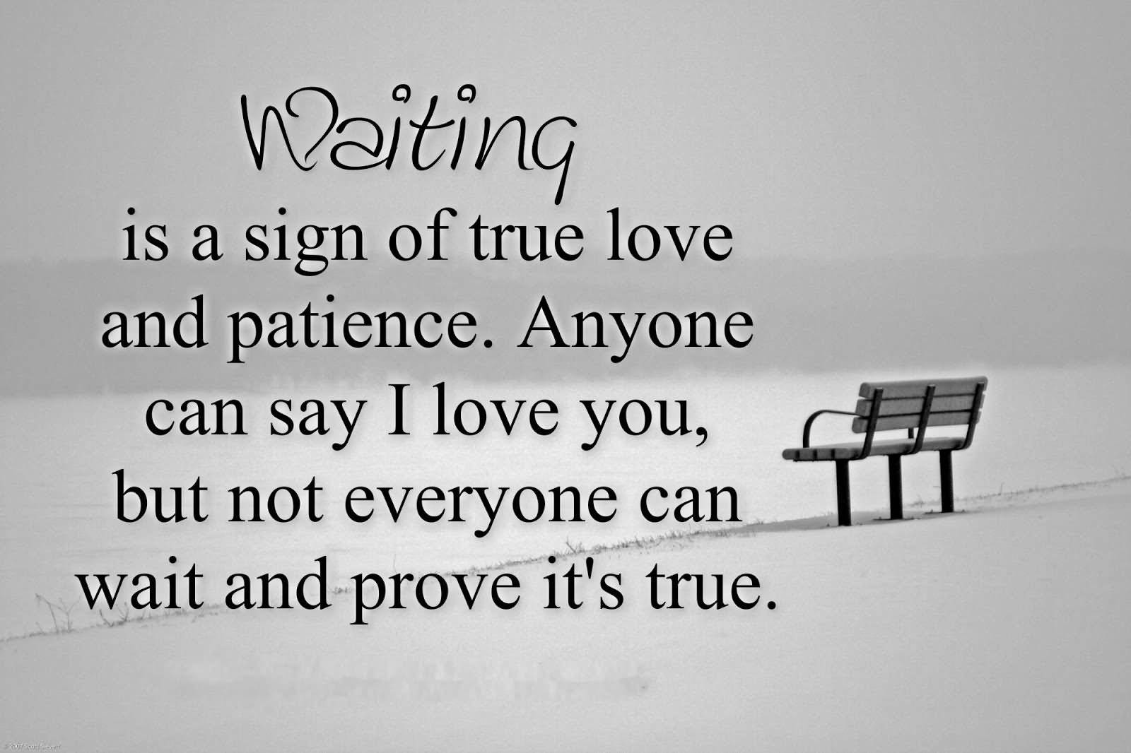 How long wait to say i love you