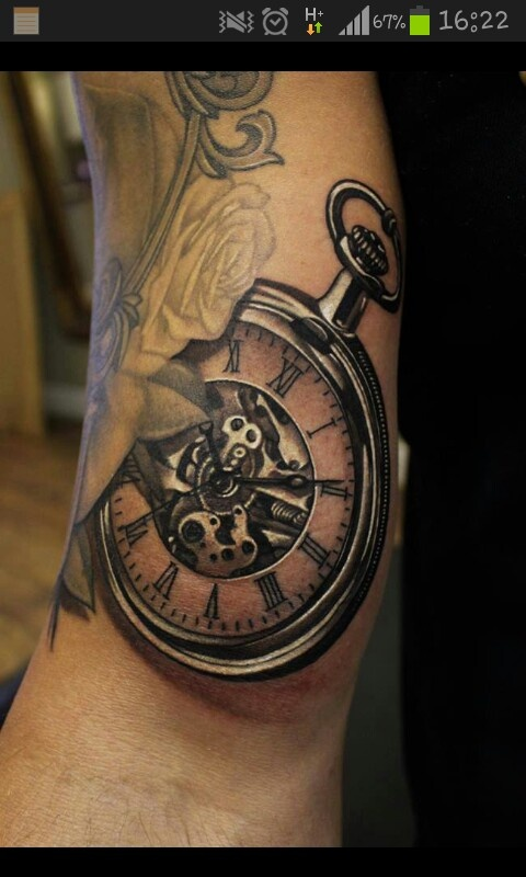 100 unique watch tattoos for Pocket watches tattoos