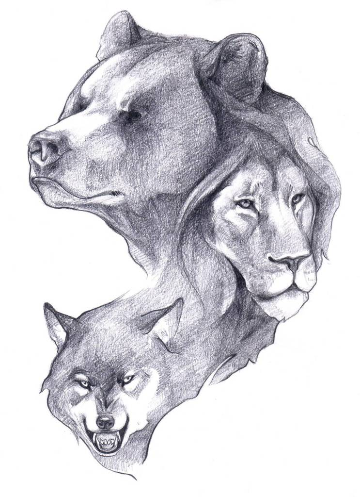 24 latest bear tattoo designs for Wolf head tattoos