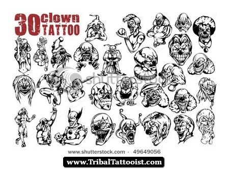 40+ Best Clown Tattoo Designs