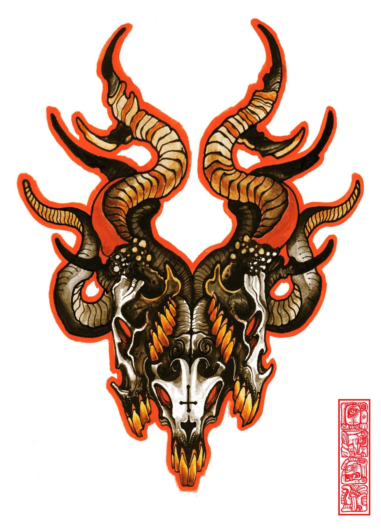 32 Inspiring Goat Tattoo Designs