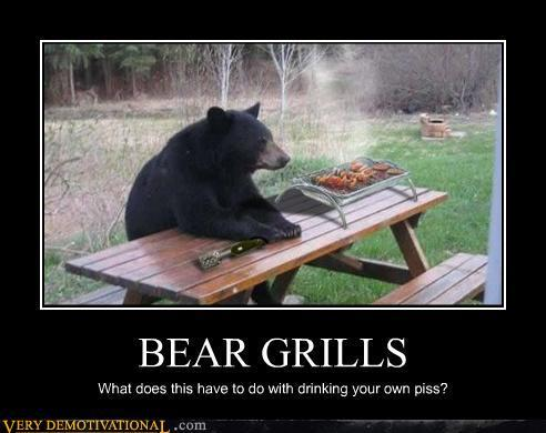 Bear Grills Funny Poster