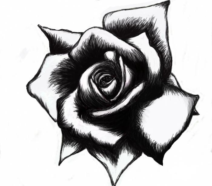 Beautiful Black And White Tattoo Design