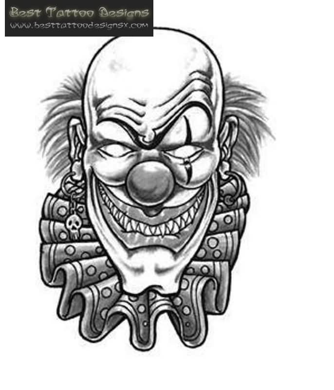 40 Best Clown Tattoo Designs
